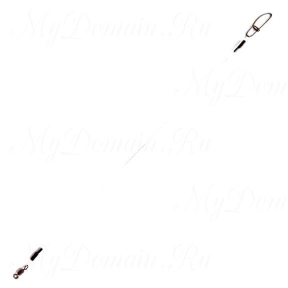 Поводок флюорокарбоновый RUBICON 10кг, d=0,4, 20см (2шт)