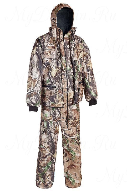 """Костюм Тайга алова-""""мембрана"""" (3в1, куртка, брюки, жилет разгрузочный) раз. 44-46, кмф/свет.лес"""