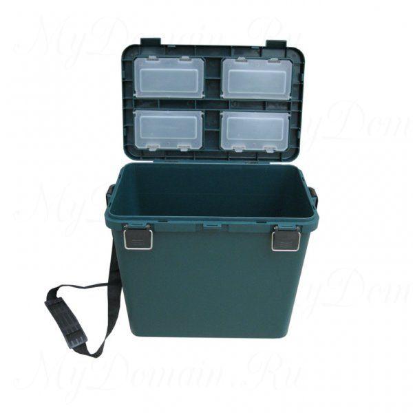 Ящик зимний ТОНАР + односекционный, пластиковый 380х320х260 см 19 л, синий