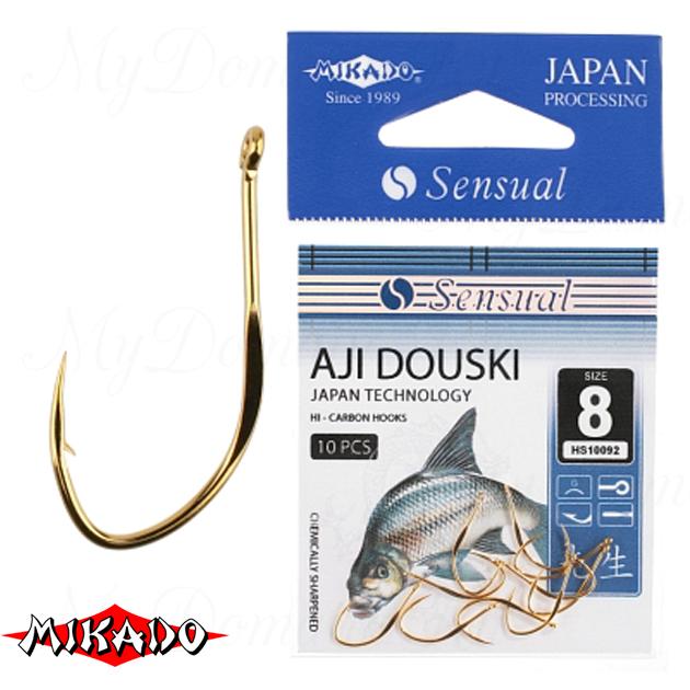 Крючки Mikado SENSUAL - AJI DOUSKI W/RING №  8 G (с ушком) уп.=10 шт., упак