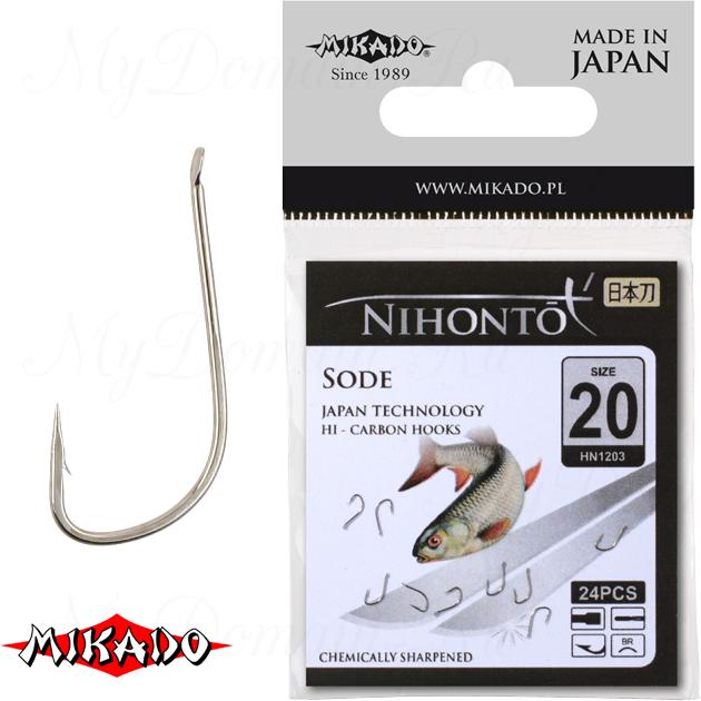 Крючки Mikado NIHONTO - SODE № 14 BR (с лопаткой) уп.=23 шт., упак