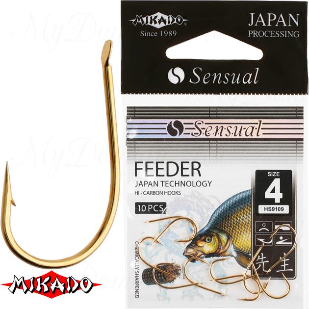 Крючки Mikado SENSUAL - FEEDER № 12 G (с лопаткой) уп.=10 шт., упак