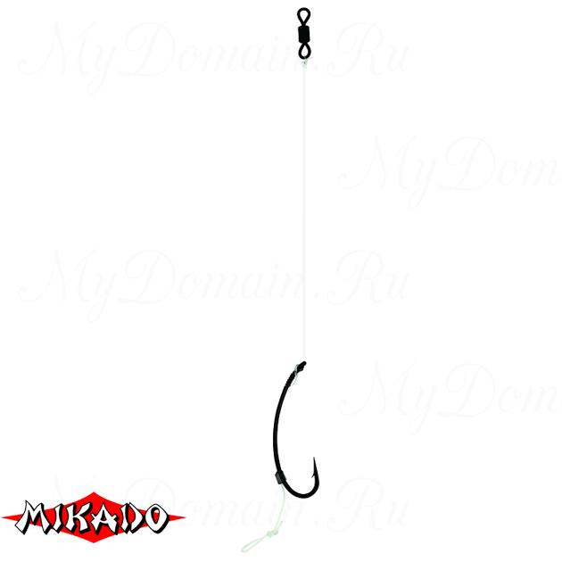 """Крючки с поводками Mikado Carp Fine Line P16 """"METHOD PASTE STIFF RIG"""" № 8 / 15 lbs / 13 см.  уп.=2 ш, упак"""