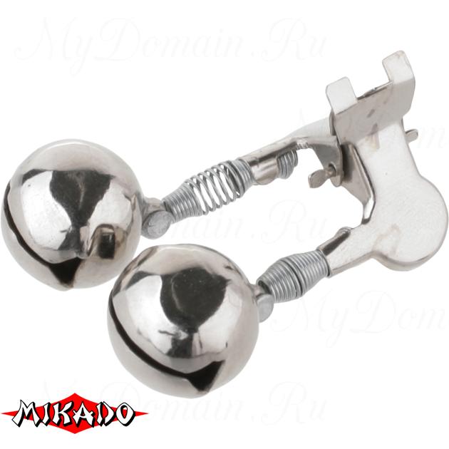 Сигнализатор поклёвки двойной бубенчик Mikado с прищепкой AMR02-1197-22  уп.=10 шт., упак
