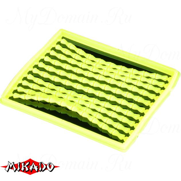 Стоппоры для бойлов Mikado силикон (желтые) AMC-11501-04  уп.=2 шт., упак