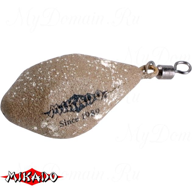 Грузило карповое Mikado с вертлюжком. дальний заброс (песочный) 04S  130 г.  уп.=10 шт., упак