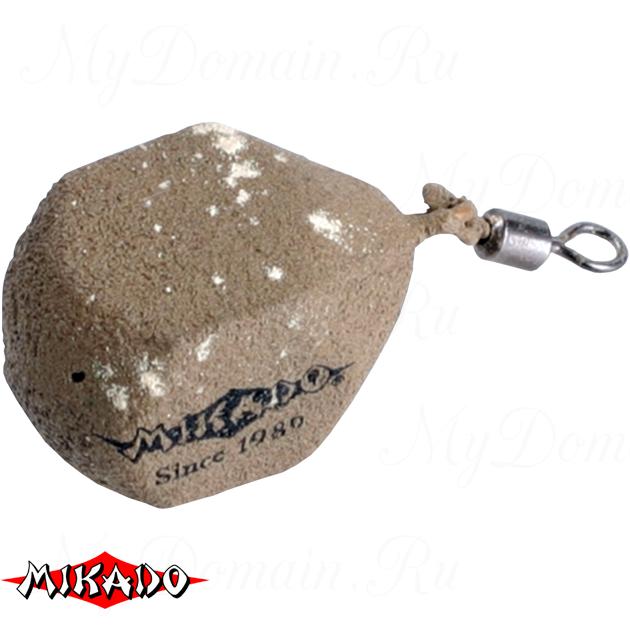 Грузило карповое Mikado с вертлюжком. кубические (песочный) 05S  60 г.  уп.=10 шт., упак