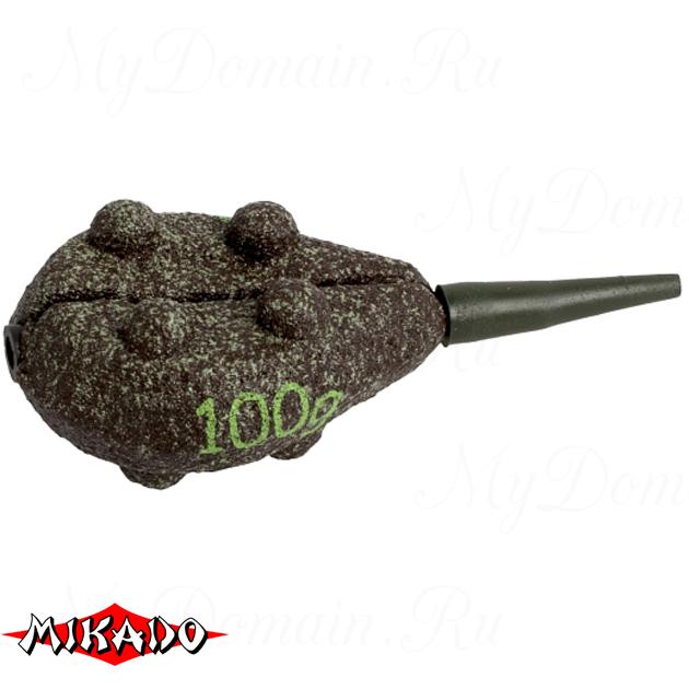 Грузило карповое сменное Mikado. плоское (тёмно-зелёный) 23G  50 г.  уп.=10 шт., упак