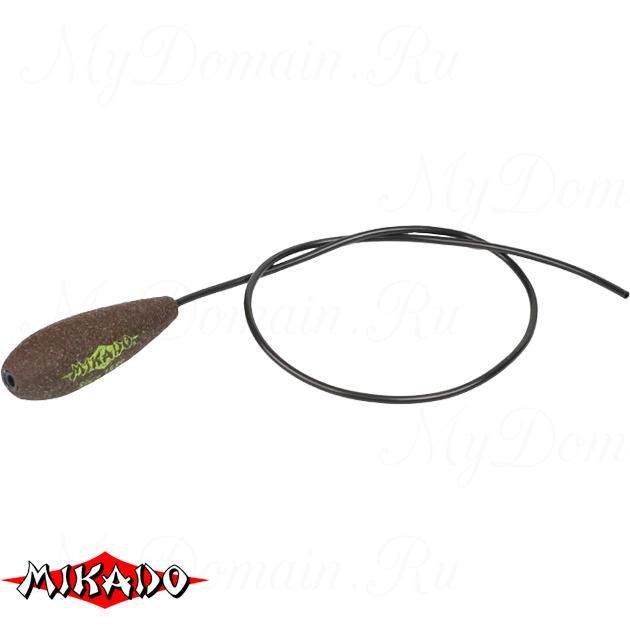 Грузило карповое Mikado с антизакручивателем. отцентрованное (тёмно-зелёный) 18G  50 г.  уп.=10 шт., упак
