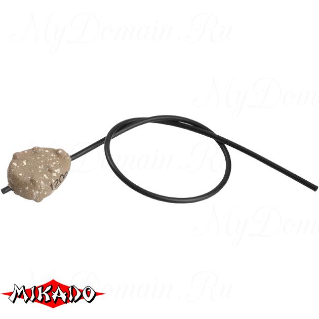 Грузило карповое Mikado скользящее с антизакр. (песочный) 07S  120 г.  уп.=10 шт., упак