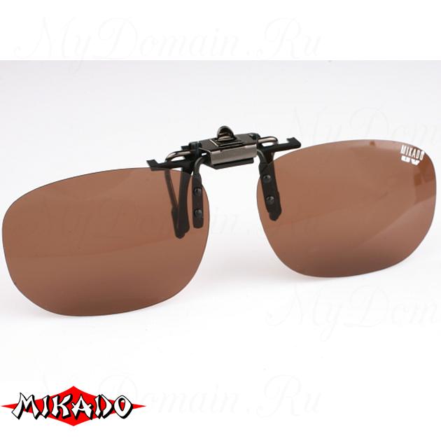 Насадка на очки поляризационная Mikado CPON-BR (коричневые линзы), шт