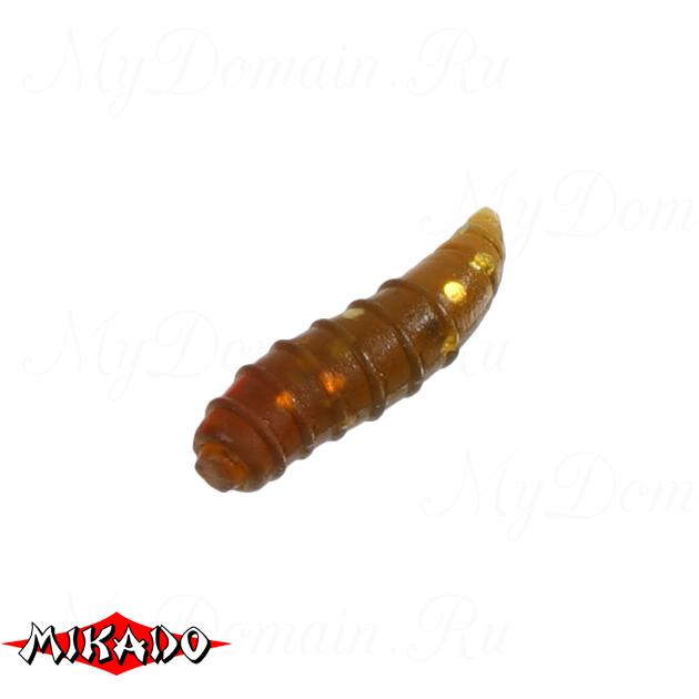 Личинка пчелы силиконовая Mikado TROUT CAMPIONE (чеснок) 2.0 см. / 004, упак