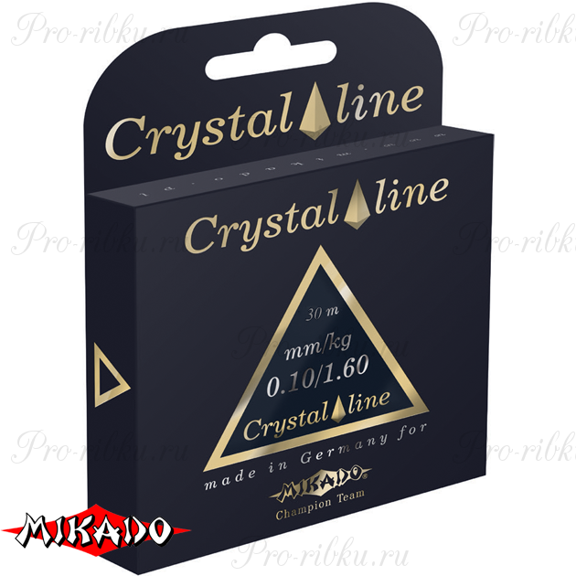 Леска мононить Mikado CRYSTAL LINE 0,08 (30 м) - 0.98 кг.  уп.=10 шт., шт