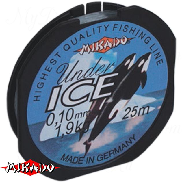Леска мононить Mikado UNDER ICE 0,16 (25 м) - 3.40 кг.  уп.=10 шт., шт