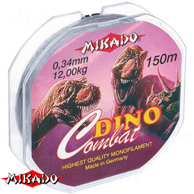 Леска мононить Mikado DINO COMBAT 0,14 (150 м) - 3.00 кг.  уп.=10 шт., шт