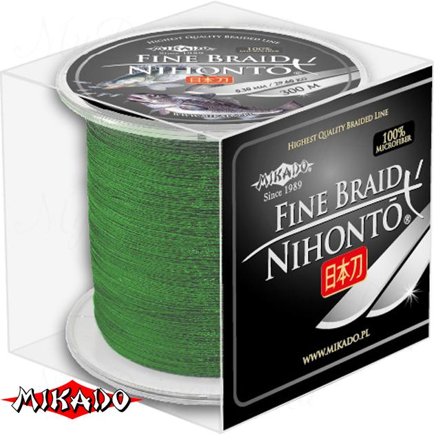 Плетеный шнур Mikado NIHONTO FINE BRAID 0,35 green (300 м) - 33.40 кг., шт