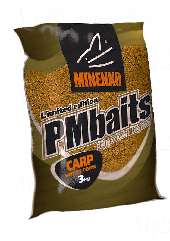 Прикормка сыпучая МИНЕНКО PMBaits Sweet corn (Кукуруза), вес 3 кг
