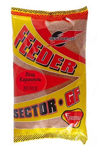 Прикормка GREENFISHING SECTOR-GF Feeder Лещ Карамель, вес 1 кг